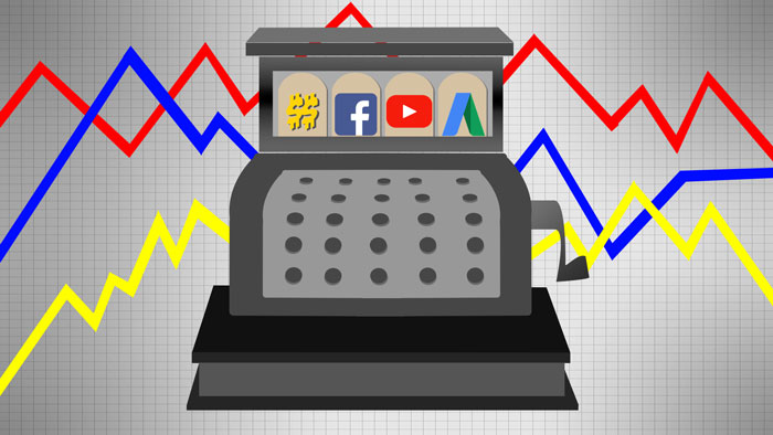 Cash Register with Paid Digital Ads