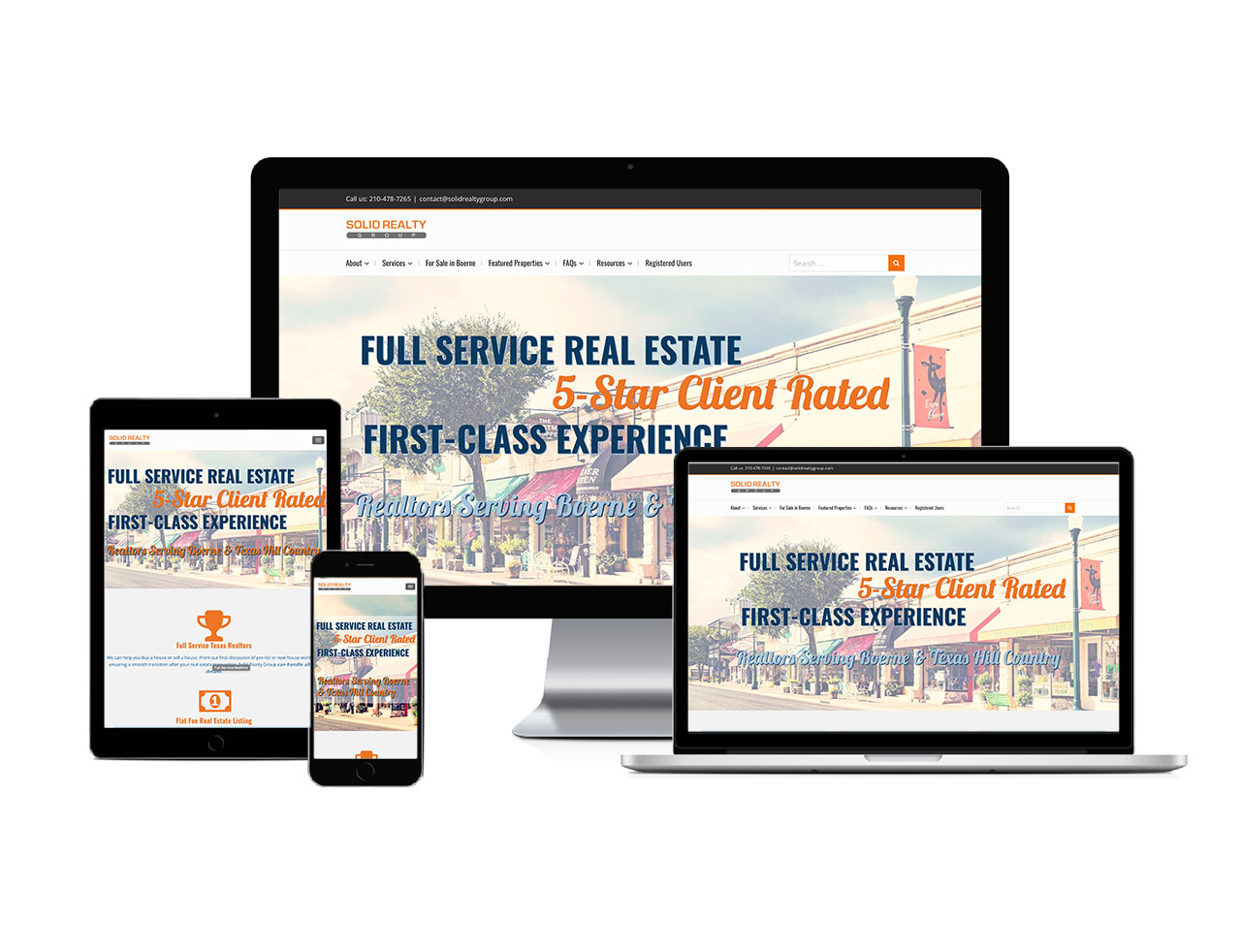 Responsive devices showcasing Solid Realty Group Website